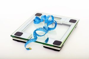Weighing scale and measuring tape